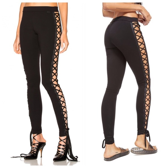 1db0b87881f5 Puma Pants   Nwt X Rihanna Fenty Lace Up Black Leggings Xs   Poshmark